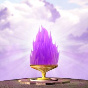 Cáliz de Llama Violeta