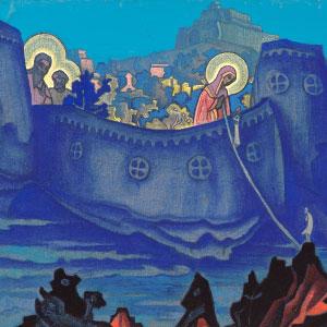 Pintura Madonna Laboris, Nicholas Roerich