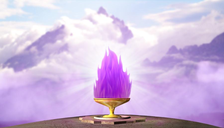 Cáliz de llama violeta en los Tetons